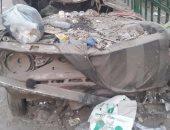 تراكم القمامة أمام محول كهرباء بشارع ناهيا فى بولاق الدكرور