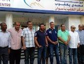 قائمة أبو ريدة تزور مستشفى مجدى يعقوب