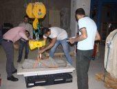 أعضاء اللجنة العليا تزور المتحف الكبير لمتابعة عمليات نقل الآثار الثقيلة