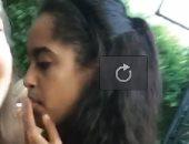 موقع أمريكى ينشر فيديو تدخين ماليا أوباما للماريجوانا