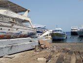 وقف إبحار لنشات النزهة البحرية فى السويس خلال موسم وقف الصيد