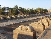 """بالصور.. شاهد سحر """"طريق الكباش"""" أطول وأعظم ممر فرعونى فى الأقصر"""