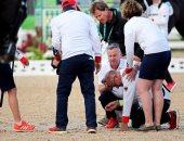 أولمبياد 2016.. مدرب فروسية ينزف دما بعد دهسه من الحصان