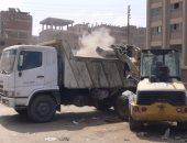 رفع وإزالة 355 طن مخلفات وقمامة بأبوقرقاص المنيا