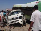 نقل جثامين 17 شخصا لقوا مصرعهم فى حادث طريق بميت غمر لـ 4 مستشفيات