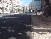 تطوير ورصف شارع إبراهيم الخليل بحى السلام ورفع الإشغالات