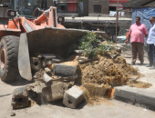 رفع وإزالة 45 طن مخلفات وقمامة و55 حالة تعد على الأراضى الزراعية بالمنيا
