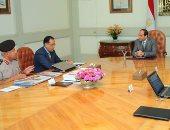 السيسى يجتمع بوزير الإسكان وكامل الوزير بشأن العاصمة الإدارية الجديدة