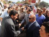 محافظ المنوفية يشهد جنازة الرائد محمد صفوت رشدى شهيد كفر المصلحة