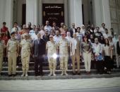 وزارة الهجرة تنظم زيارة لأبناء المصريين بالخارج للكلية الحربية