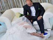 """بالفيديو.. عروسة جسر السويس : أنا مش """"أمينة""""وغسلت رجل عريسى حباً فيه"""