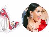 """بالصور..كاتى بيرى تدخل عالم الأزياء بتصميمات أحذية """" Technicolor """""""