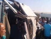 توقف حركة المرور أعلى الطريق الأقليمى بسبب حادث تصادم سيارتين