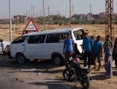 مصرع شخص وإصابة اثنين فى حادث تصادم بأسوان