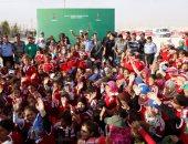 وقفة تضامنية لموظفى الأمم المتحدة فى نيويورك مع أطفال سوريا