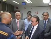 بالصور.. وزير الاتصالات يتفقد سنترال شرم الشيخ ويستطلع أراء العملاء