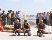 ننشر صور إحباط القوات البحرية محاولة تهريب طن حشيش و ضبط 189 متسللا