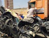 بالصور .. تداول لقطات لحادث مروع على الطريق الدائرى بالمعادى