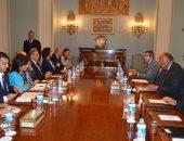 سامح شكرى يلتقى أعضاء مجموعة الصداقة المصرية البريطانية فى مجلس النواب