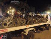 المرور يضبط 1676 مخالفة دراجات بخارية بدون لوحات بالمحافظات