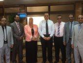 رئيس جامعة القناه يلتقي طلاب اليمن  بكلية التمريض بالإسماعيلية
