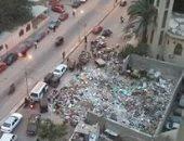 مقلب قمامة يحاصر مدرسة جمال عبد الناصر الثانوية بحى دار السلام