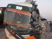 إصابة 14 شخصا فى حادث تصادم أتوبيسين بطريق بلبيس - العاشر من رمضان
