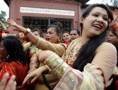 """""""مهرجان النساء"""" فى نيبال.. طقوس للزواج السعيد وسلامة الأبناء"""
