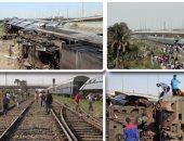 فيديوجراف.. الجماعة الإرهابية ترقص على جثث ضحايا حوادث القطارات
