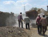إزالة التعديات على الأراضي الزراعية بمركز بسيون