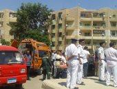 بالصور..النيابة تنتهى من مناظرة جثمان أمين شرطة استشهد برصاص ملثمين فى أكتوبر