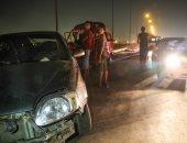 توقف حركة المرور أعلى طريق الجيزة - الفيوم الإقليمى بسبب حادث تصادم