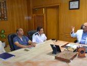 محافظ الإسماعيلية يستعرض الإجراءات الإحترازية التى تم اتخاذها لمجابهة مياه الأمطار والسيول