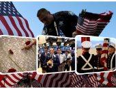 """بالصور.. 15 عاما على 11 سبتمبر.. حرس شرف و3 آلاف علم يزينون ولاية إلينوى.. بورصة نيويورك تبدأ التداول بـ""""دقيقة حداد"""".. الإسرائيليون يتضامنون بزيارة """"النصب التذكارى"""" ويواسون السفير الأمريكى"""