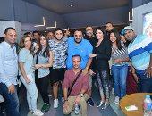 """بالصور.. صناع """"حملة فريزر"""" يحتفلون بالعرض الخاص للفيلم وغياب هشام ماجد"""