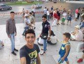 بالصور.. قارئ يرسل صورا لفرحة الجالية المصرية بالعيد فى إيطاليا