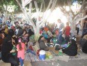 بالصور.. أهالى كفر الشيخ يقبلون على المتنزهات والحدائق للاحتفال بالعيد