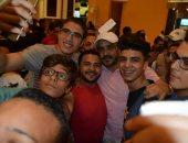 """محمد رجب فى جولة بالسينمات لمتابعة رد فعل الجمهور على فيلمه """"صابر جوجل"""""""