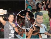 إيهاب توفيق يشعل حفل العيد بالتجمع