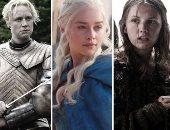 """بالصور.. كيف تغير شكل نجمات مسلسل """"Game of thrones"""" فى """"Emmy Awards""""؟"""