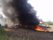 احتراق مروحية عسكرية سودانية ونجاة طاقمها وركابها