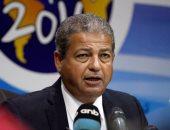 وزير الرياضة يصل مقر الجبلاية لاستقبال رئيس الكاف