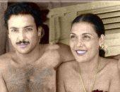 تزوجت 14 مرة..صورة نادرة من عقد قران تحية كاريوكا ورشدى أباظة