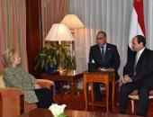 السيسى لهيلارى كلينتون: حريصون على إعطاء دفعة جديدة للعلاقات بين البلدين