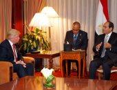 """""""ترامب"""" ينسف سياسة أوباما """"الباردة"""" مع القاهرة.. الرئيس الأمريكى الجديد يعرب عن تطلعه لزيارة السيسى لـ""""واشنطن"""".. ويشيد بجهود مكافحة الإرهاب.. ويؤكد حرص إدارته على تقديم الدعم لمصر في جميع المجالات"""