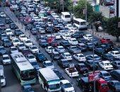 توقف حركة المرور أعلى كوبرى أكتوبر بسبب حادث تصادم وأوتوبيس معطل