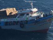 تفاصيل إنقاذ القوات البحرية (35) مصريا من الغرق فى بلنص صيد بالبحر الأحمر