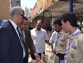 بالصور.. القائم بأعمال رئيس جامعة الإسكندرية يتفقد كليات الجامعة