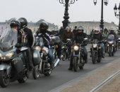 مسيرة لسائقى الدرجات النارية بفرنسا احتجاجا على قرار حظر سيرهم بالشوارع