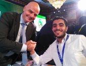 رئيس فيفا لليوم السابع: أعرف الكثير عن الكرة المصرية بسبب تألق صلاح وميدو
